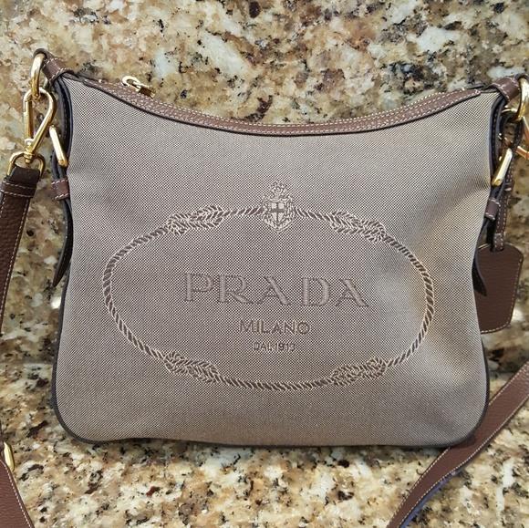 f0d0710c5cb4 Authentic Prada Milano Jacquard Logo Crossbody bag.  M_5aba123705f430c0172c6572